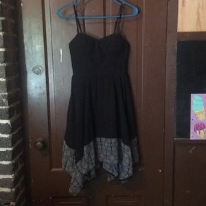 Black chiffon fit & flare